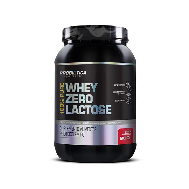 100% Pure Whey Sem Lactose 900g - Probiotica