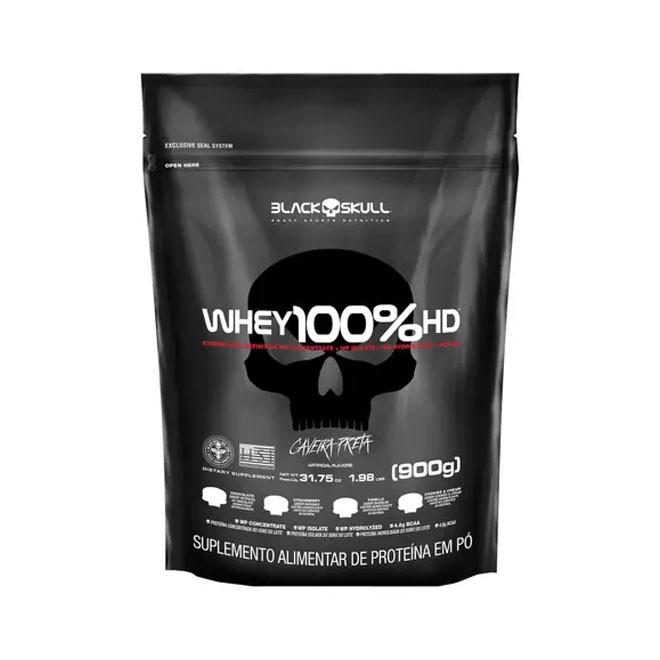 Whey 100% HD Refil (900g) - Black Skull