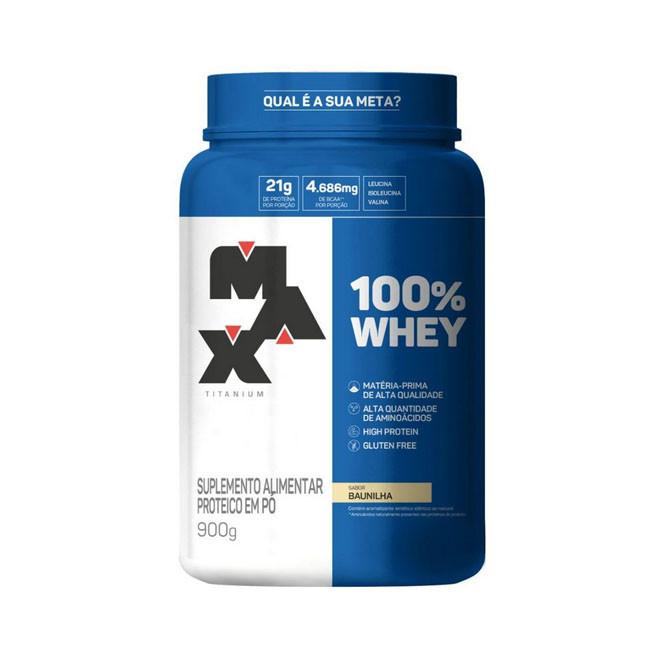 100% Whey Protein 900g - Max Titanium