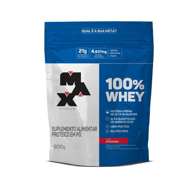 100% Whey Protein 900g Refil - Max Titanium