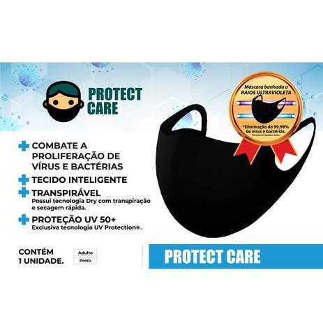 Máscara Protect Care Adulta Preta