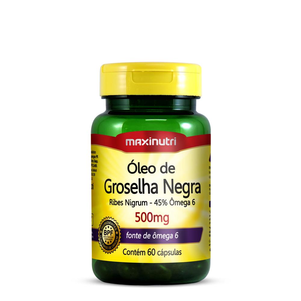 Óleo de Groselha Negra 500mg 60 Cápsulas - Maxinutri