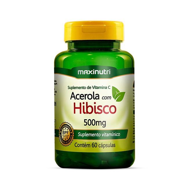 Acerola com Hibisco 60 Cápsulas - Maxinutri