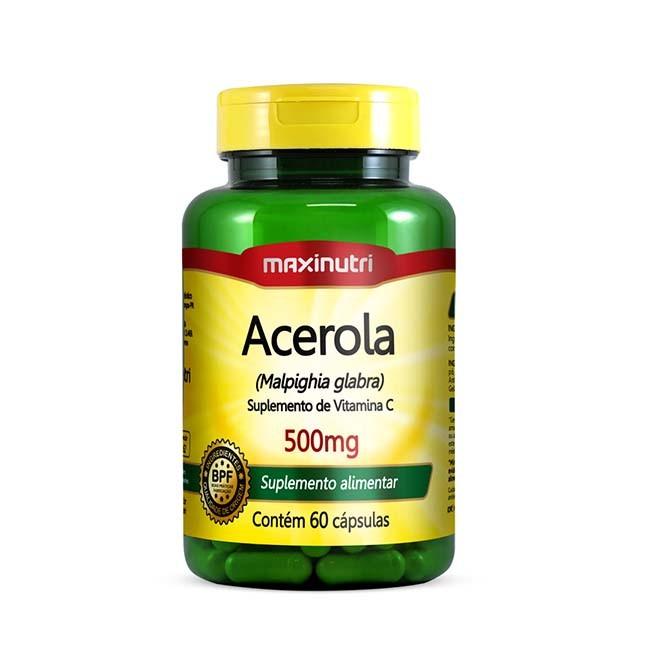 Acerola 500mg 60 Cápsulas - Maxinutri