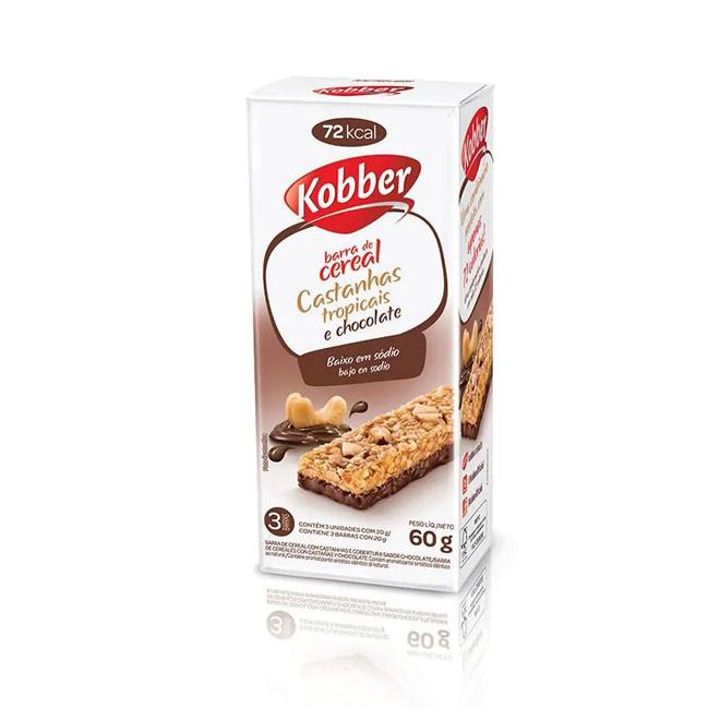 Barra de Cereal castanhas Tropicais + Chocolate (240g) - Kobber