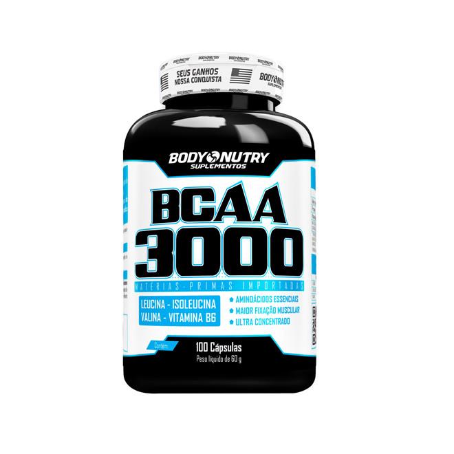 BCAA 3000 100 Cápsulas - Body Nutry