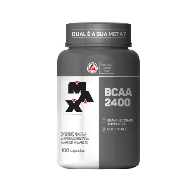 BCAA 2400 100 Cápsulas - Max Titanium