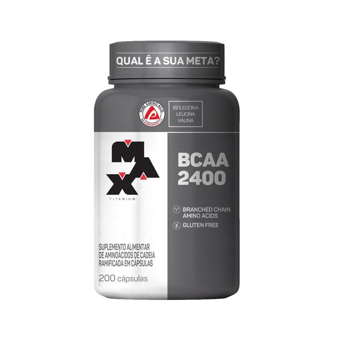 BCAA 2400 200 Cápsulas - Max Titanium