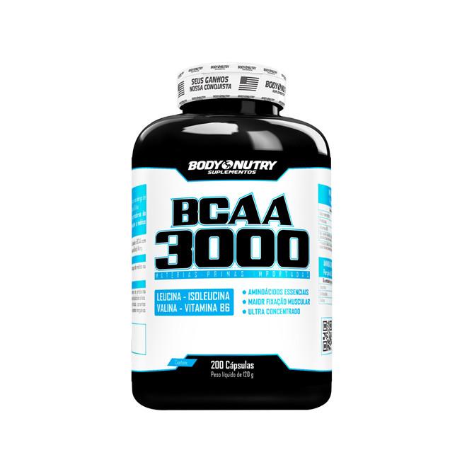 BCAA 3000 200 Cápsulas - Body Nutry