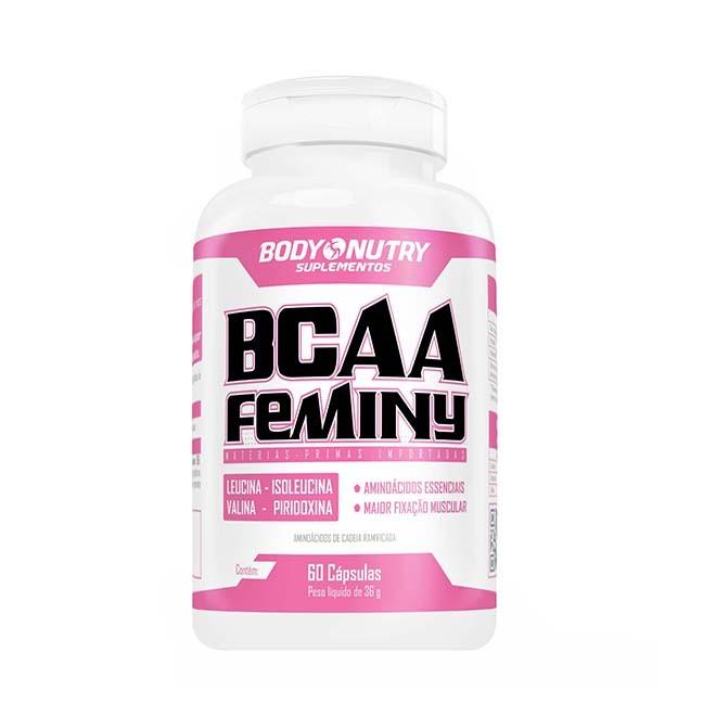 BCAA Feminy 60 Cápsulas - Body Nutry