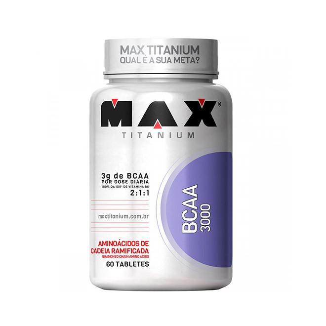 BCAA 3000 60 Cápsulas - Max Titanium