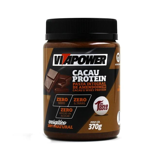 Pasta de Amendoim Integral Cacau 370g - Vitapower