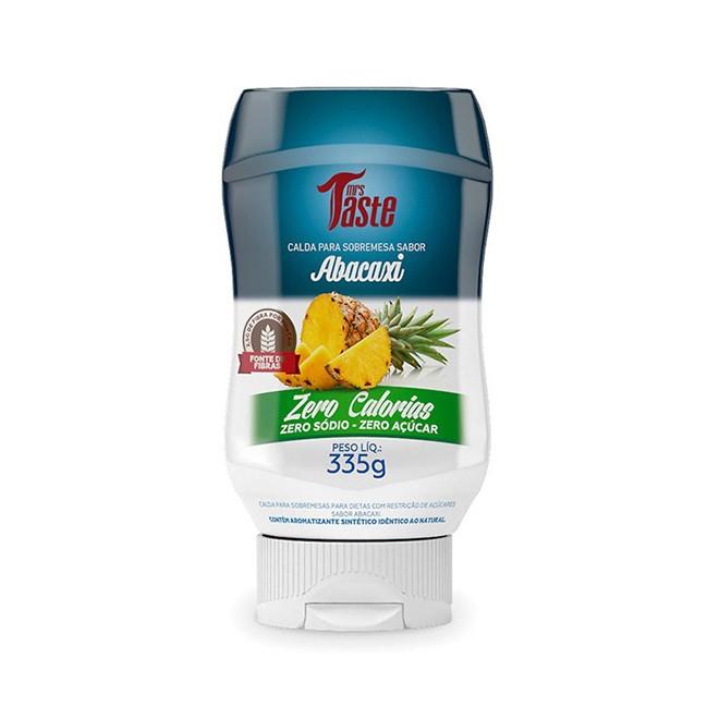 Calda para Sobremesa Zero Calorias Abacaxi 335g - Mrs Taste