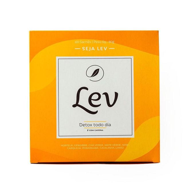 Chá Detox c/ Cafeína (60 Sachês) - Lev