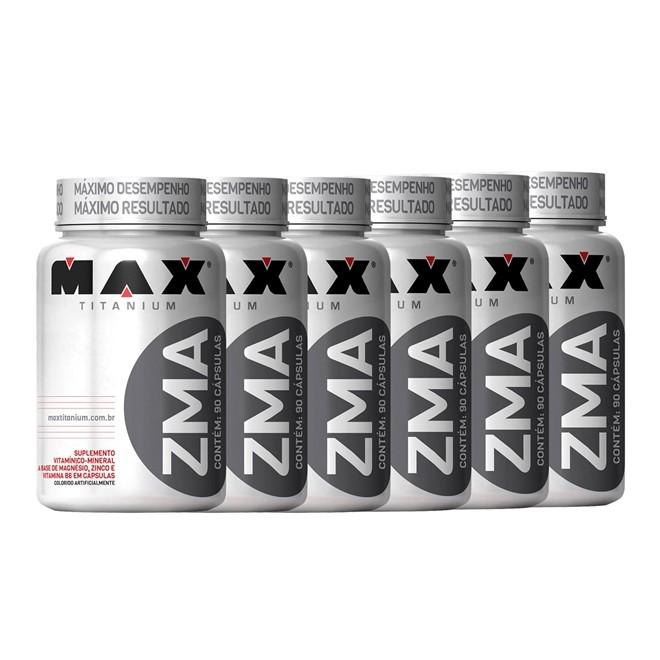 Combo 6x ZMA 90 Cápsulas - Max Titanium