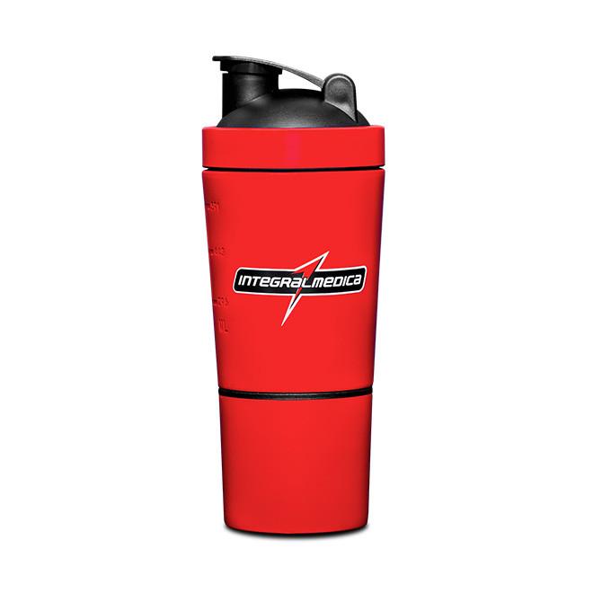 Coqueteleira Alumínio 2 Doses Vermelha (590ml) - Integralmedica