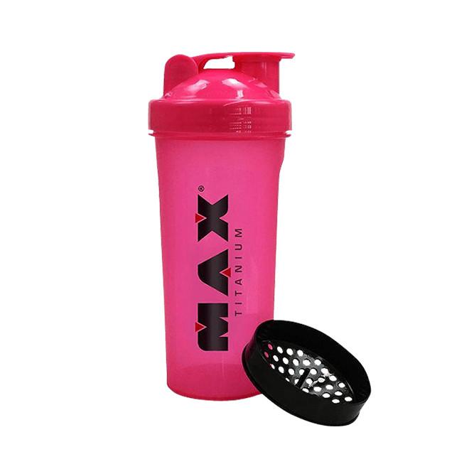 Coqueteleira 700ml Rosa - Max Titanium