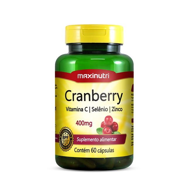 Cranberry 60 Cápsulas - Maxinutri