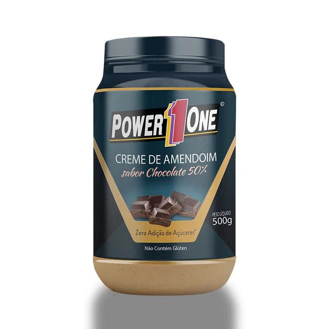 Creme de Amendoim (500g) Chocolate - Power1One