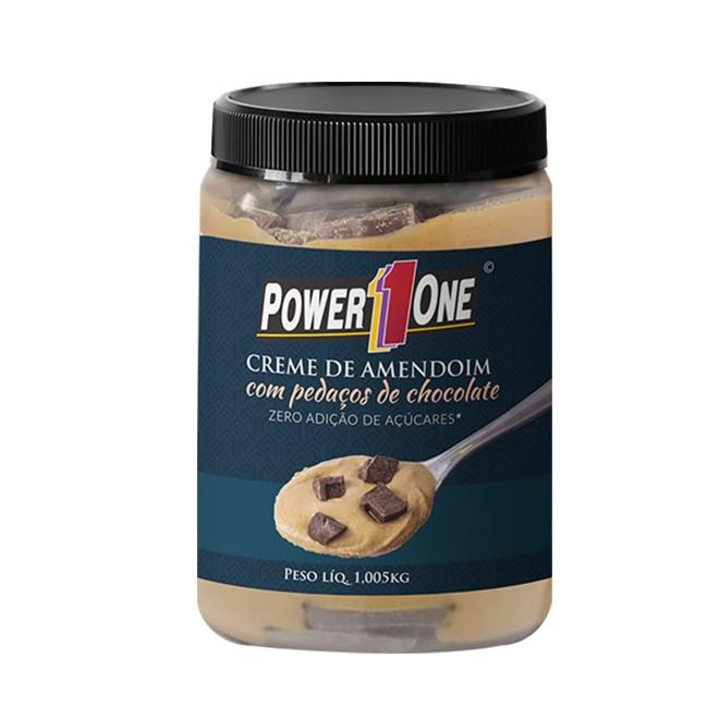 Creme de Amendoim c/ Pedaços de Chocolate 1,005kg - Power 1One