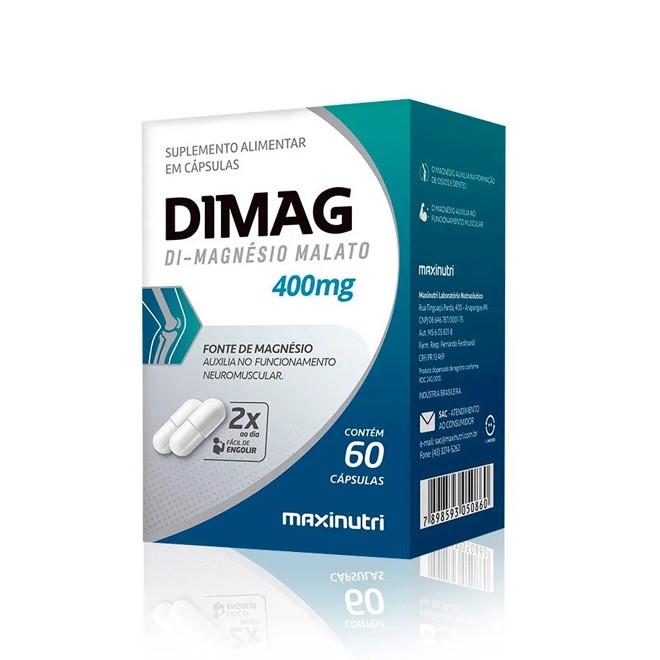 DIMAG Di-Malato de Magnésio 400mg 60 Cápsulas - Maxinutri