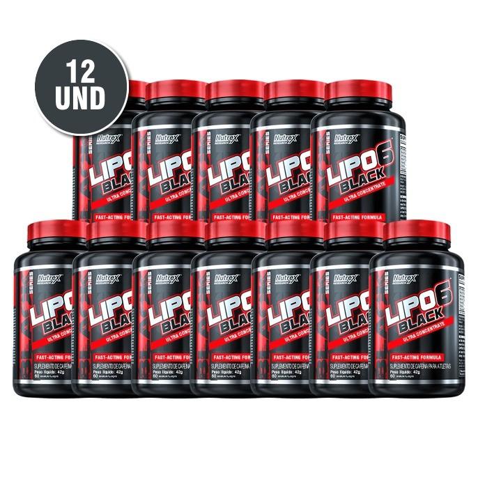 Combo 12x Lipo 6 Black Ultra Concentrado - Nutrex