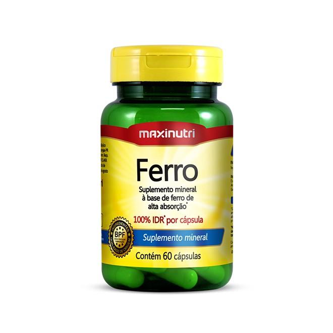 Ferro 60 Cápsulas - Maxinutri