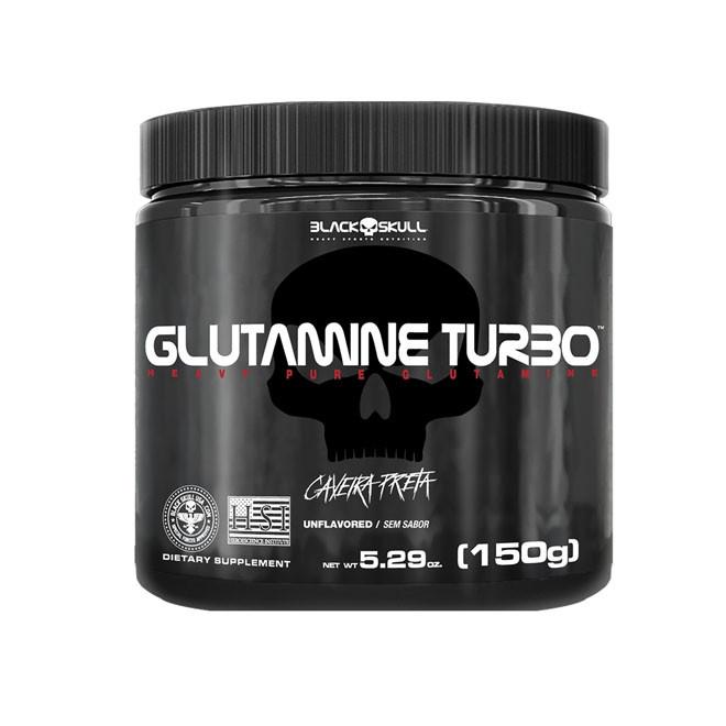 Glutamine Turbo Caveira Preta (150g) - Black Skull
