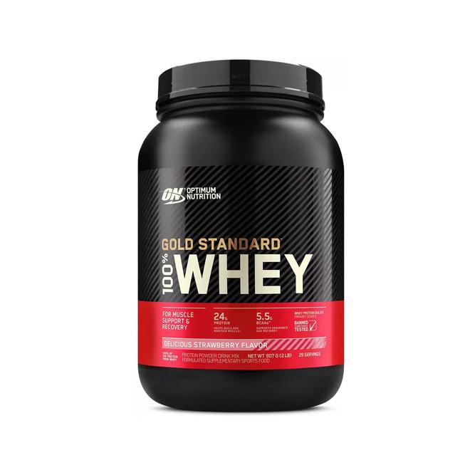 100% Whey Gold Standard 907g Strawberry Flavor – Optimum Nutrition
