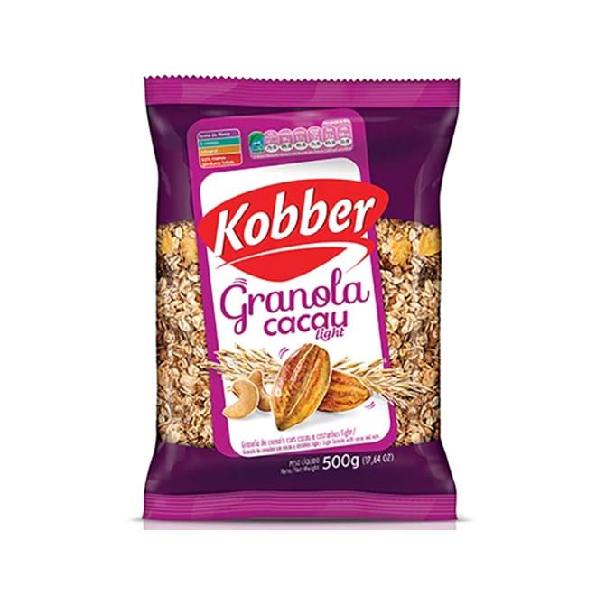 Granola c/ Cacau e Castanhas Light (500g) - Kobber