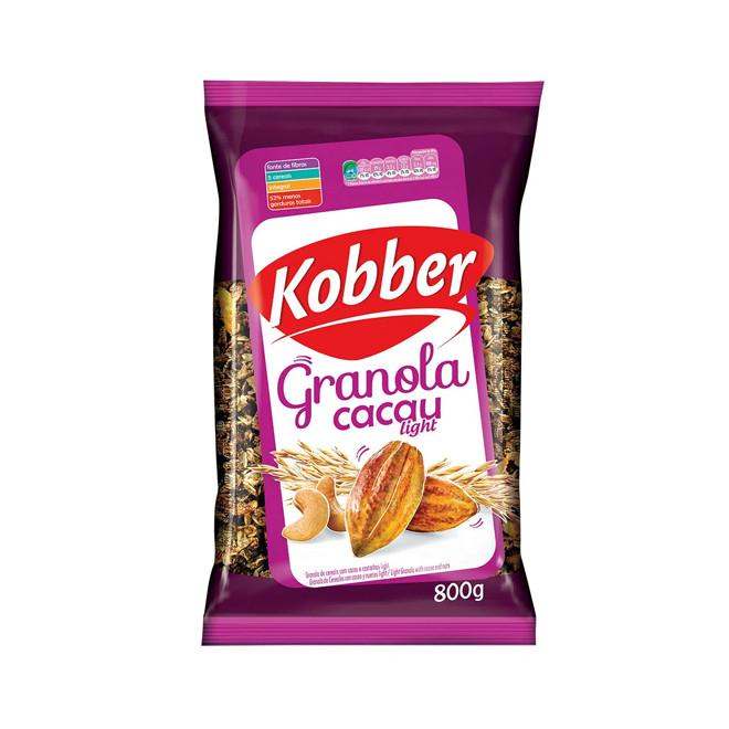 Granola c/ Cacau e Castanhas Light (800g) - Kobber