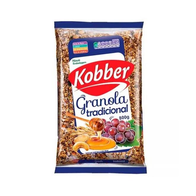 Granola Tradicional Mel, Passas e Castanhas (800g) - Kobber