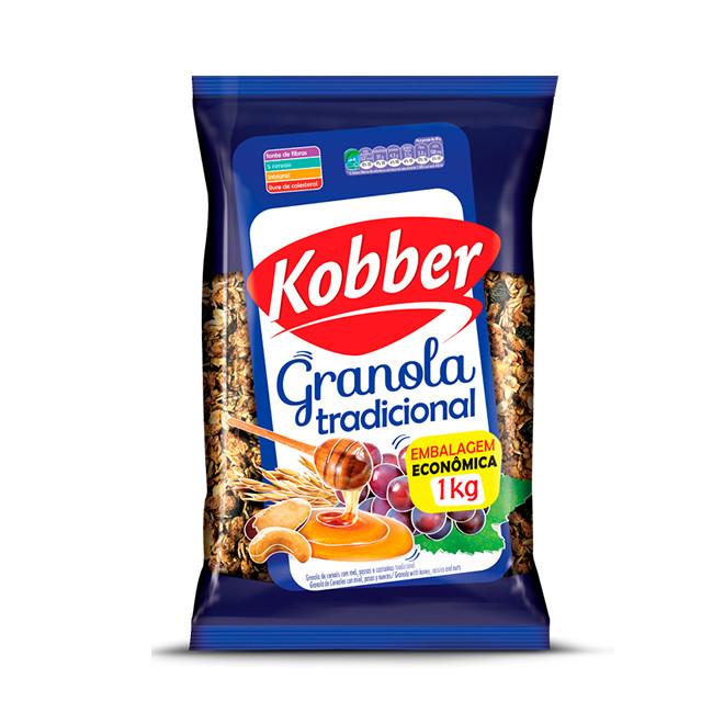 Granola Tradicional Mel, Passas e Castanhas (1kg) - Kobber