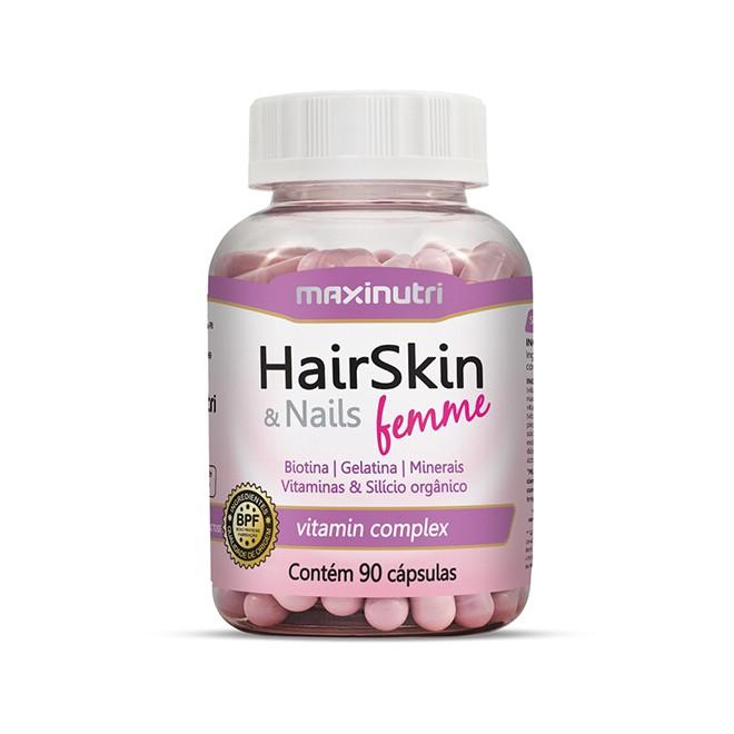 HairSkin Femme 90 Cápsulas - Maxinutri