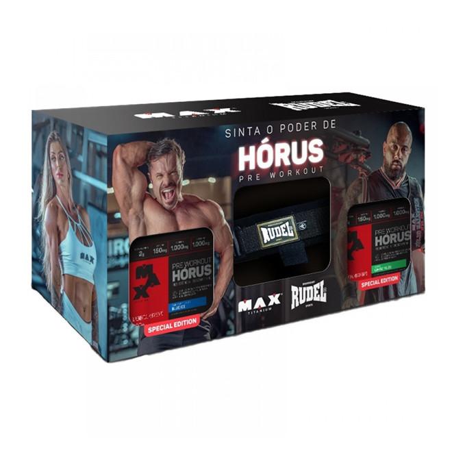 PROMOPACK 2x Hórus 150g (Limão/Blue Ice) + Strap Rudel Especial - Max Titanium