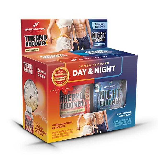 Thermo Abdomen + Night Abdomen 60 Caps Cada - Body Action