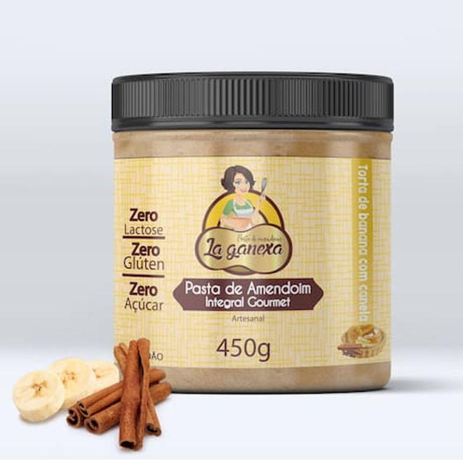 Pasta de Amendoim Gourmet 1.005kg Banana com Canela - La Ganexa