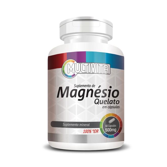 Magnésio Quelato 60 Cápsulas 500mg - Flora Nativa
