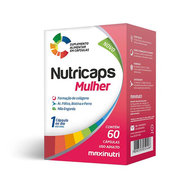 Nutricaps Mulher (60 Cápsulas) - Maxinutri