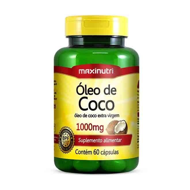 Óleo de Coco 1000mg 60 Cápsulas - MaxiNutri