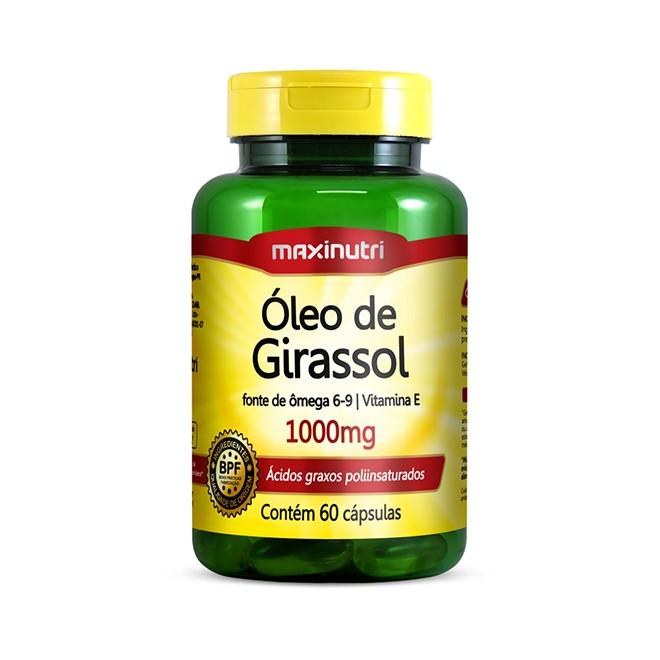 Óleo de Girassol 1000mg 60 Cápsulas - Maxinutri