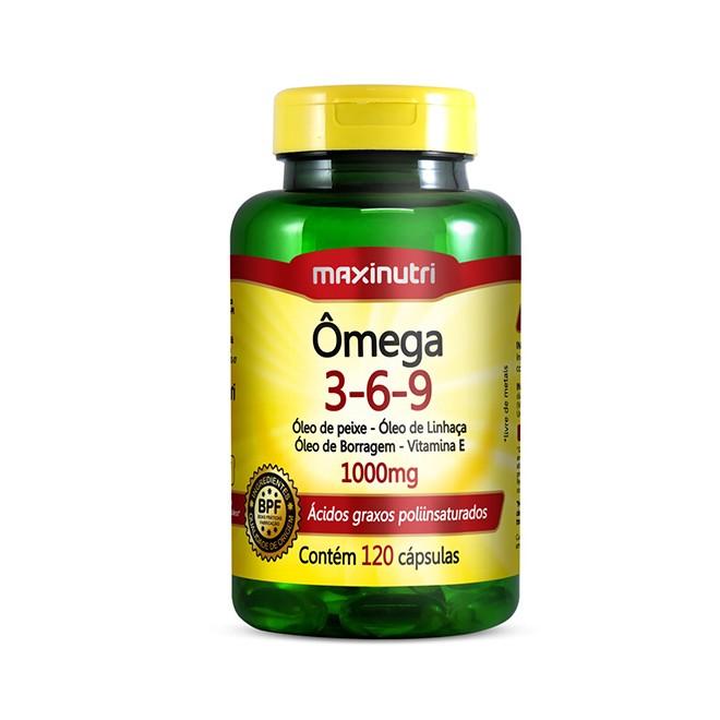 Ômega 3-6-9 120 Cápsulas - Maxinutri