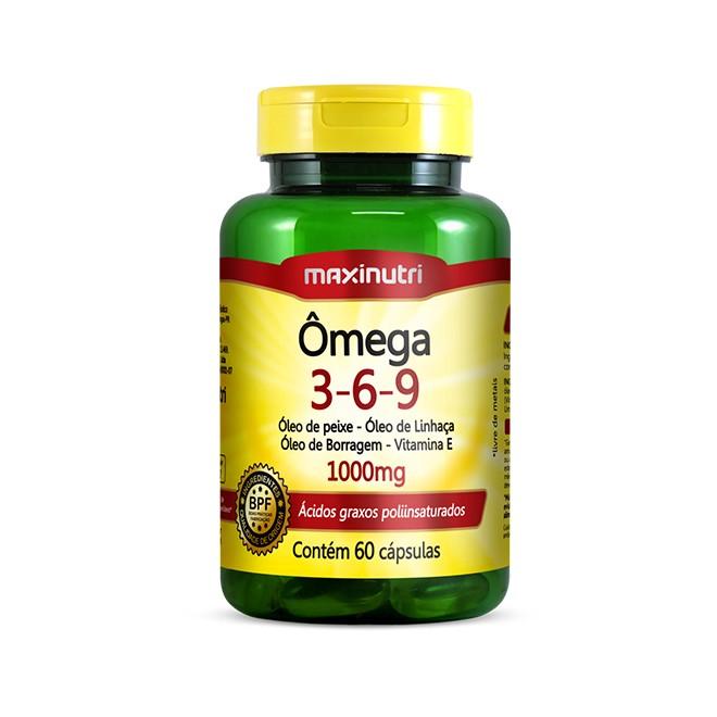 Ômega 3-6-9 60 Cápsulas - Maxinutri