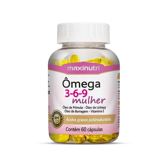 Ômega 3-6-9 Mulher 60 Cápsulas - Maxinutri