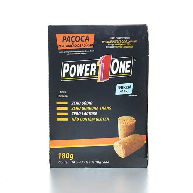 Paçoca Zero Açúcar Caixa c/ 10 Unidades – Power 1One