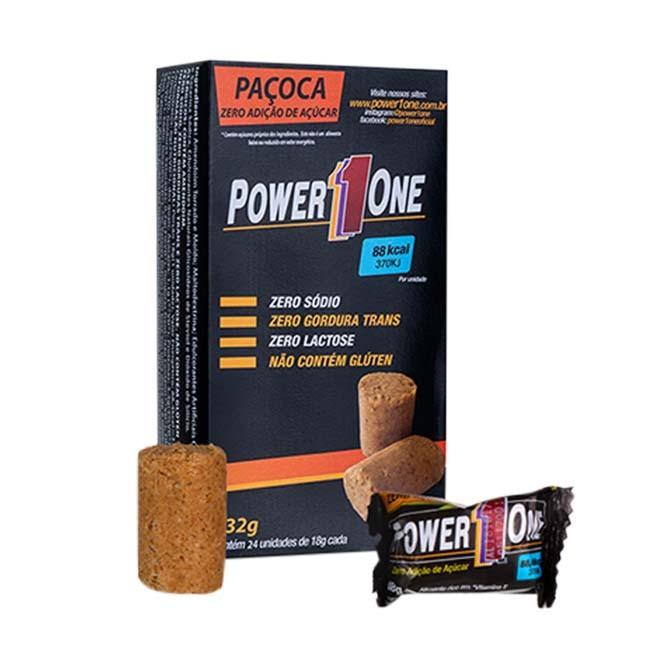 Paçoca Zero Açúcar 18g – Power 1One