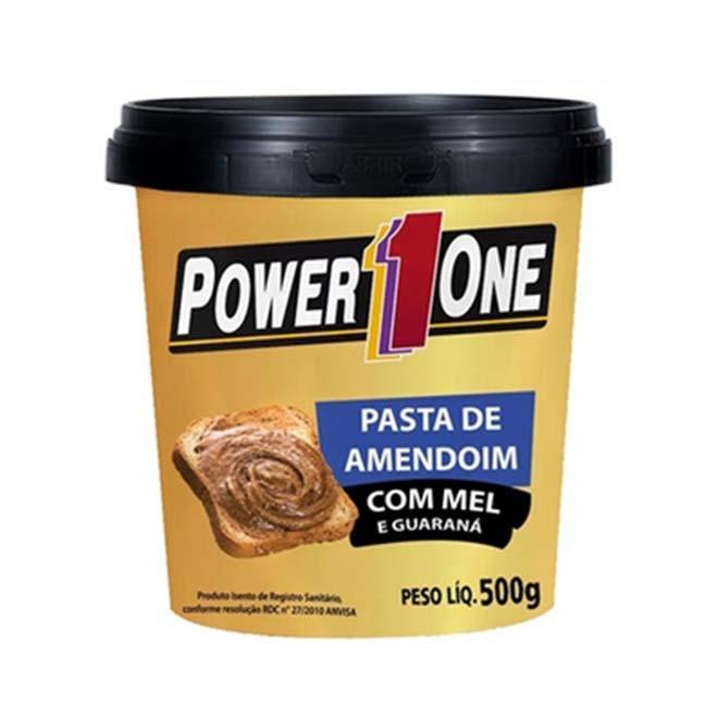 Pasta de Amendoim com Mel e Guaraná 500g - Power One