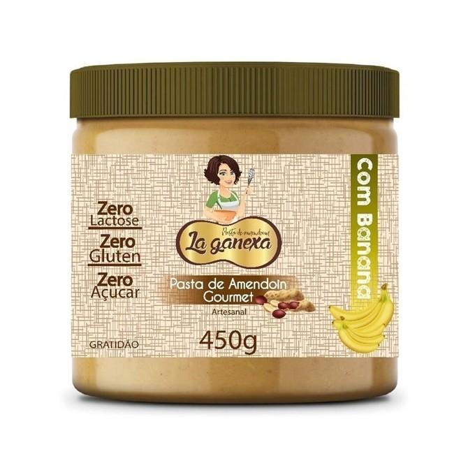 Pasta de Amendoim Gourmet 450g Banana  - La Ganexa