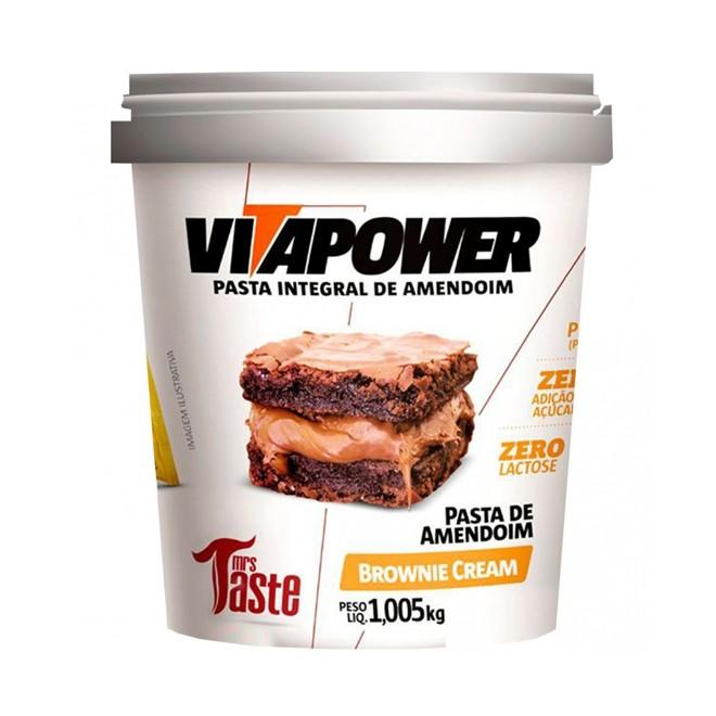 Pasta de Amendoim Brownie Cream 1.005kg - Vitapower