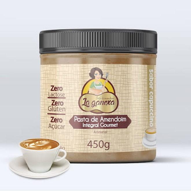 Pasta de Amendoim Integral Gourmet Cappuccino 1,005kg - La Ganexa